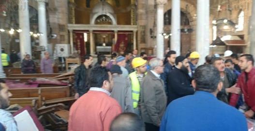 المسلم الحر تدين العمل الارهابي الذي طال احد الكنائس في القاهرة