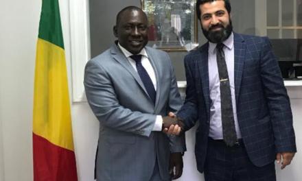 منظمة اللاعنف تبحث مع سفير جمهورية مالي في واشنطن خطر تنامي العنف والتطرف