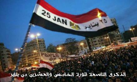 بيان اللاعنف العالمية في الذكرى التاسعة لثورة الخامس والعشرين من يناير