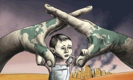 بیانیه سازمان جهانی نفی خشونت به مناسبت روز جهانی کودکان و بی پناهان قربانی جنگ